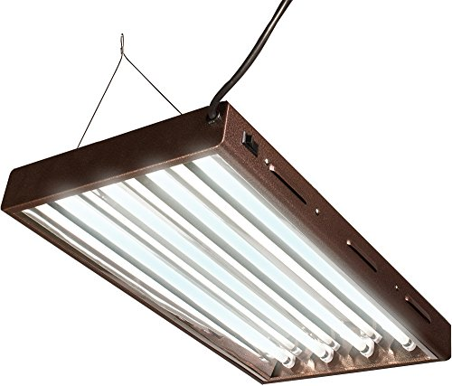 Hydrofarm Agrobrite Designer T5, FLP24, 96W 2 Foot, 4-Tube Fixture with Lamps, Black