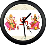 Exclusively made for our loving customers with fancy ganesha laxmi design, black premium grade plastic sleek design to become centre of attaraction for your bedroom, office,temple,Kitchen or Living Room. Novelty clock with premium features, Smooth/Sw...