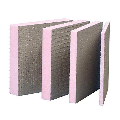12 Platten (9,36m²) Bauplatte XPS 4mm Hartschaum Fliesen Platte Montage Sanitär