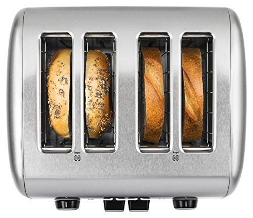 Grille-Pain 4 Tranches avec Levier KitchenAid en Acier Inoxydable Brossé - Modèle KMT4115SX - 2