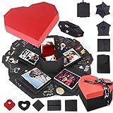 Eterbiz Explosion Box, Creativo FAI Da te a Sorpresa Esplosione Regalo Scatola, Scrapbooking Photo Album Gift Box per il Compleanno di San Valentino Anniversary Wedding Festival di Natale