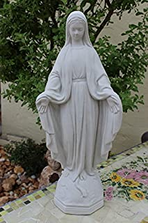 Virgin Mary Concrete Statue Bless Mother Yard Art New 17.5