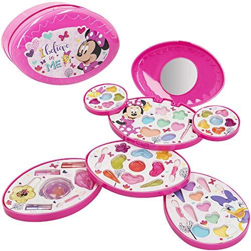 Disney - Set maquillaje infantil niñas Completo Maletin Maquillaje Minnie Juego maquillaje niñas niños 5 años Set maquillaje niña Pintauñas Manicura juguete Regalos para niñas