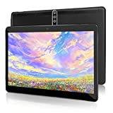 10 inch Android Tablet PC with Octa-Core CPU, 4GB RAM 64GB ROM IPS Touchscreen,5G-WiFi, Dual SIM Cards Slot Unlocked,Bluetooth GPS,K5 (Black)