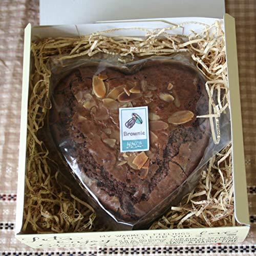 「ハートブラウニー in Square Box」サクッと軽い甘さ控えめハート型のブラウニー(バレンタインにオススメの箱入りチョコレートの焼き菓子ギフト)チョコレートよりボリューム存在感あり。