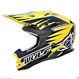 WULFSPORT Advance Adulti Casco Motocross off Road MX Quad Pit Bike Sportivi Enduro Dirt ATV Racing Cross Caschi con Occhiali Casco Moto Uomo