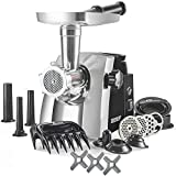 The STX Turboforce Cadet Classic 2000 Series Electric Meat Grinder & Sausage Stuffer - 3 Grind Plates, 1 Beaner Plate, 3 S/S Blades, 3 Sausage Tubes, 1 Kubbe Maker. 2 Meat Claws & Burger-Slider Press