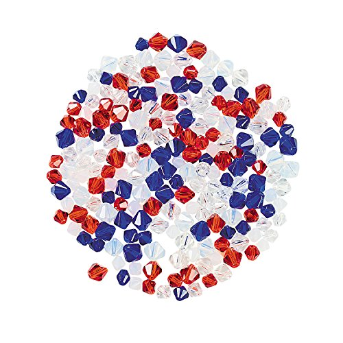 Fun Express - Red, White & Blue Crystal Assortment for Fourth of July - Craft Supplies - Adult...