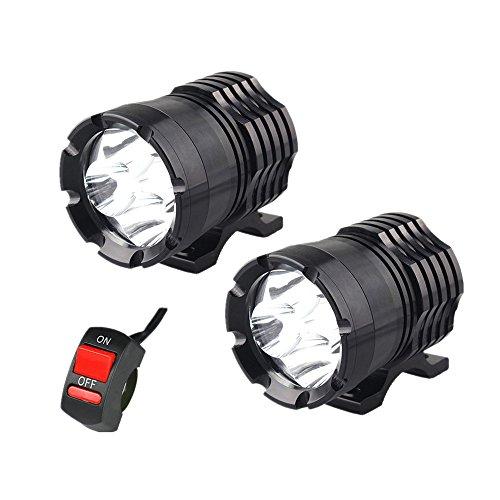 1 par de faros LED para motocicleta, 12 V, 80 W, 8000 lúmenes, U2, LED, faros delanteros de motocicleta,…