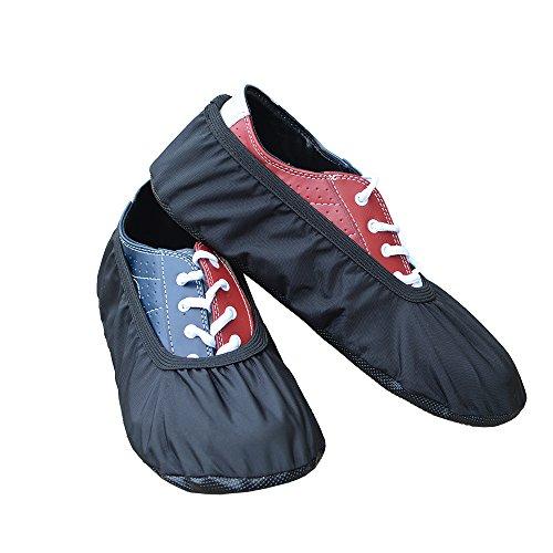 MyShoeCovers Premium Bowling Shoe Covers - Pair | Durable Quality Construction | Black - Large