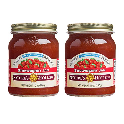 Nature's Hollow, Sugar-Free Strawberry Jam Preserves, 10 Ounces Each, Non GMO, Keto Friendly, Vegan and Gluteen Free