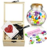 Tifeson Mother's Day Present for Mom - Capsule Letters Message in a Bottle 100Pcs Cute Pills Message Letter for Friends' Gift, Birthday Gift, Valentines Day Gift for Girlfriend Boyfriend