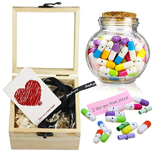 Tifeson Mother's Day Present for Mom - Capsule Letters Message in a Bottle 100Pcs Cute Pills Message...