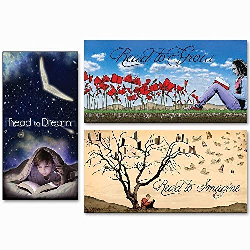 Why Read Literacy Inspirational Poster Bundle for Classrooms. Available Fine Art Paper or Laminated.