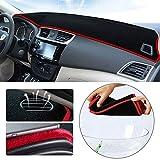 Alfombrilla de salpicadero para V olkswagen VW T-ROC 2018 Cubierta de Fundas de salpicadero del tablero resistente al calor antirreflectante Poliéster Negro y rojo