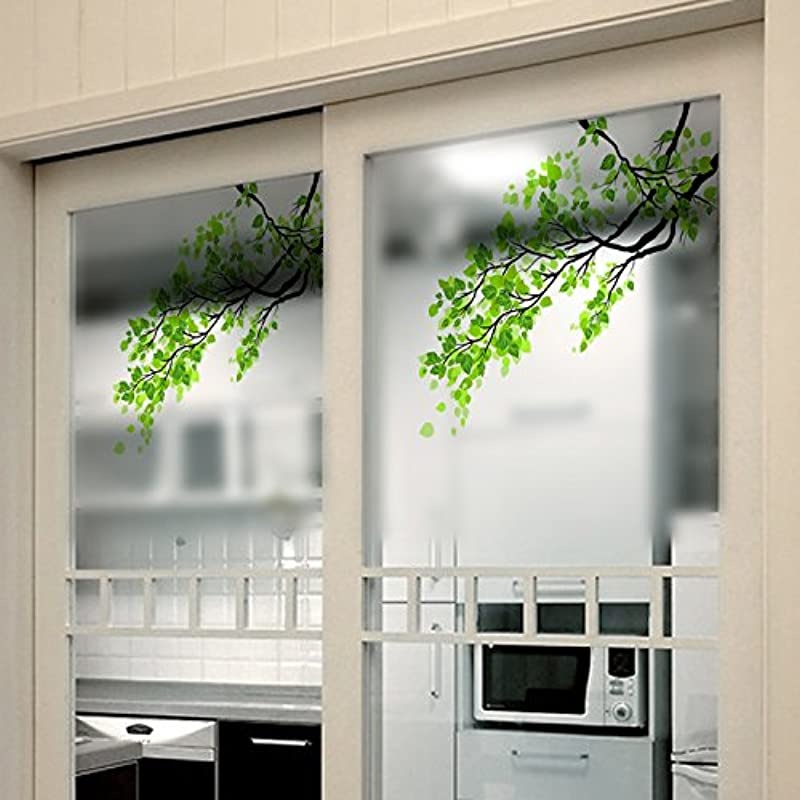 Window Treatments 60x58cm Frosted Opaque Glass Window Film Tree Privacy Glass Stickers Home Decor Window Film Tree Designer Life Decal Stained Glass Tint Peel And Stick Privacy Films 1PCs