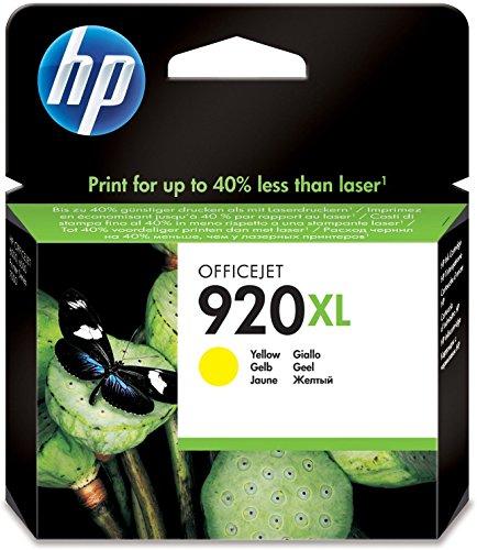 HP 920XL Gelb Original Druckerpatrone mit hoher Reichweite für HP Officejet 7500A, 7000, 6000, 6500, 6500, 6500A, 6500A
