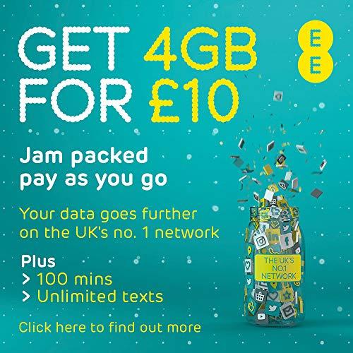 EE 4G PREPAID Sim Karte Everything Packung