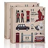 ARPAN 200 x 15 x 10 cm Fotos, CD/DVD, área de Escritura de Notas Regalo, Diseño de Iconos de Londres, Album Size : 23 x 4.5 x 22.5 cm Approx