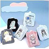 BcofoA Mini Bolsa de Agua Caliente, Bolsa de Agua Tibia con una Funda de Felpa, Ayuda a Mantener Las Manos y los pies Calientes y Alivia el Dolor en Las Manos y los pies. (Color : Little Girl (Pink))