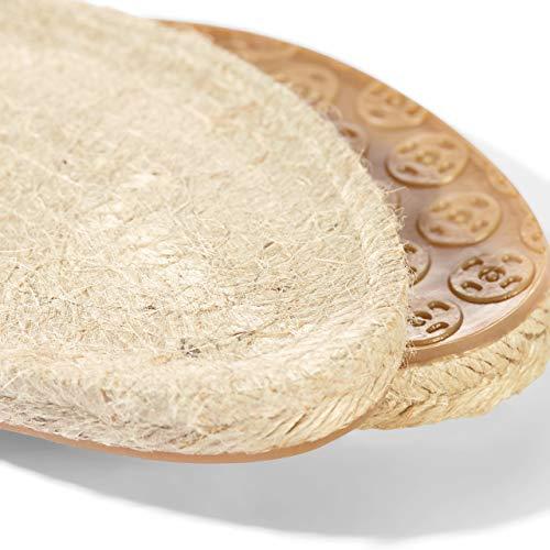 Prym espadrille-zolen, maat 42, schoenzool, jute/rubber, naturel, 26 x 10 x 2 cm, 2 stuks