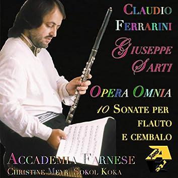 Giuseppe Sarti: Opera Omnia 10 Sonate per Flauto e Cembalo