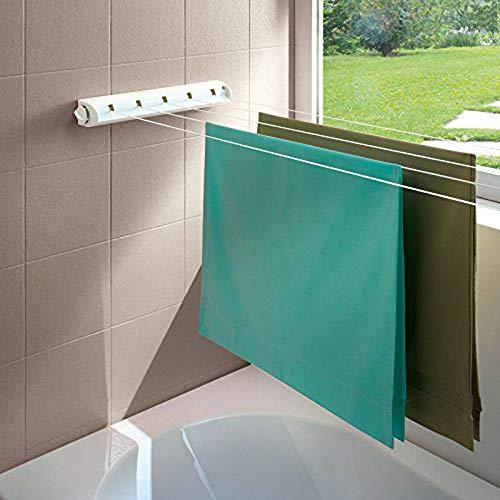 SAIF - Tendedero retráctil para ropa, uso interior, 18 m, con 5 cuerdas