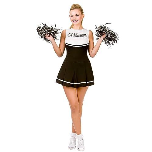 Women Cheerleader Uniform School Girl Fancy Dress Costume Outfit Pompom or Socks