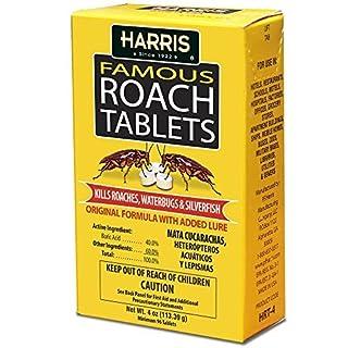 Harris Roach Tablets, Boric Acid Roach Killer with Lure (4oz, 96 Tablets)