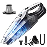 Holife Handheld Vacuum Cleaner Cordless, 7kpa Rechargeable Hand Vacuum with Quick Charge, Portable Hand Held Dry Vac for Home Car Pet Hair Office Gravel Cleaning, Stainless Steel Filter