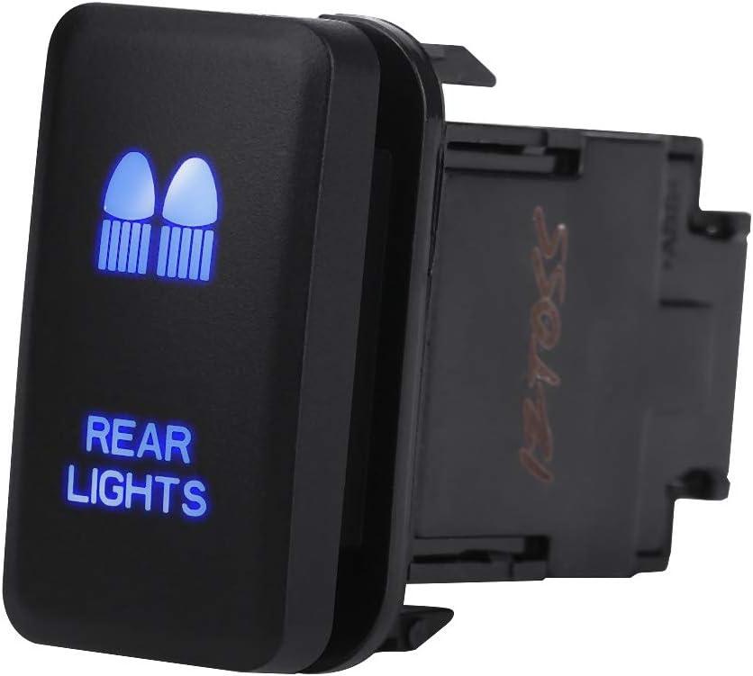 12V blaue LED Auto Auto Ein Aus Kippschalter f/ür Hilux Landcruiser VIGO LED Lichtleiste Wippschalter EIN-AUS LED-Licht DRIVING LIGHTS Pattern