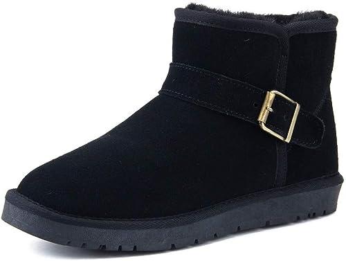 Shuo lan Bottes d'hiver d'hiver d'hiver à la Mode pour Hommes et Femmes,Chaussures de Cricket (Couleur   Noir, Taille   44 EU) 84e