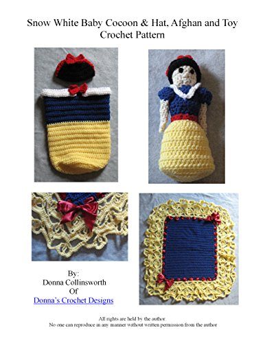 Snow White Inspired Baby Cocoon, Baby Afghan, Doll Set Crochet Pattern (English Edition)