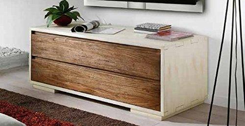 Legno&Design Meuble Salon ameublement Maison Porte TV TV Bois Massif