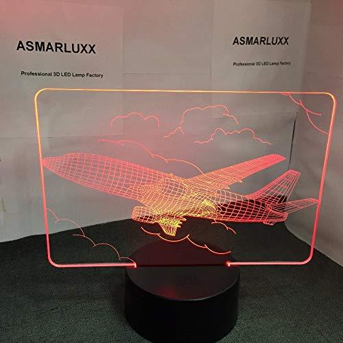 Illuminazione notturna per aeromobili LED 3D Modellazione aeronautica Pulsante di tocco Usb Aeroplano Lampada da tavolo Illuminazione per la casa Illuminazione per regali