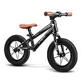 ZLI Bicicleta Equilibrio Bici de Equilibrio de Pedal, Bicicleta Deportiva de Rueda 14in para Adolescente/Estudiante, Adultos/Niños Altos Entrenando Bicicletas con 16in Neumático de Aire, Negro
