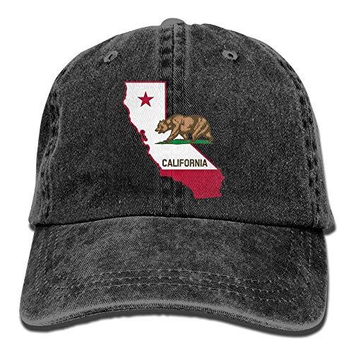ONGH California Fag Map Unisex Gorras de béisbol Ajustables Sombreros de Mezclilla Cowboy Sport Outdoor