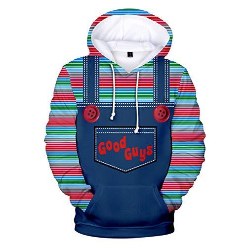 jjsbg Neuer Film Kinderspiel Hoodie Sweatshirts Cosplay Kostüm Samen Von Chucky 3D Print Mantel Trainingsanzüge Jacken Hooded Sweater Men Boy-01_M