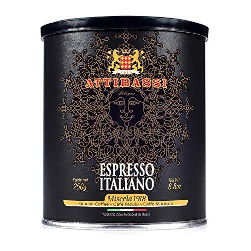 Attibassi Espresso Italiano Medium Roast Premium Ground Coffee Tin Can 8.8 oz. - Pack of 1