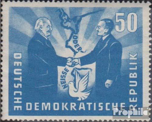 Prophila Collection DDR 285I, Akzent über NE von NEISSE (Feld 4) 1951 Deutsch-polnische Freundschaft...