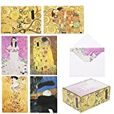 Gustav Klimt Greeting Cards with Envelopes...