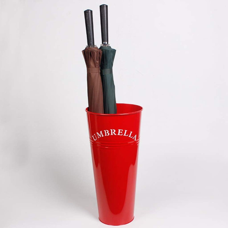 YANGBM Home Office Wrought Iron Umbrella Stand Creative Fashion Storage Rack Umbrella Umbrella Bucket Volume 220cm × 47cm × 15cm Umbrella Stand (color   Red)
