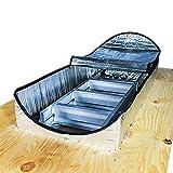 SUNBJ Schermo di Calore di Accesso mansardato, Copertura del Loft Copertura Isolante Copertura di Foglio di Alluminio con Cerniera Facile a Prova di Fuoco Antipolvere per 4 Stagioni