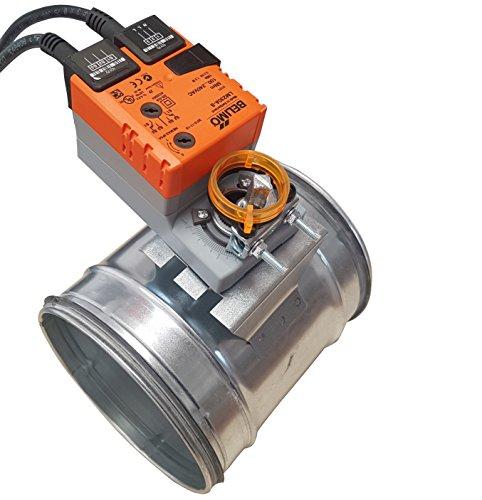 Intelmann Absperrklappe Ø 125 + Belimo LM230A-S, Hilfsschalter integriert, AC 230 V