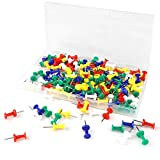 Push Pins Colored Tacks, Plastic Head, Assorted Colors, Steel Point, Durable, Anti-Rust and Re-usable 400pcs