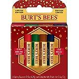 Pack de 4 bálsamos labiales de temporada festiva de Burt's Bees®: Menta y chocolate, Menta, Vainilla y Caramelo salado