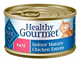 Blue Buffalo Healthy Gourmet Natural Mature Pate Wet Cat Food, Chicken 3-oz cans (Pack of 24)