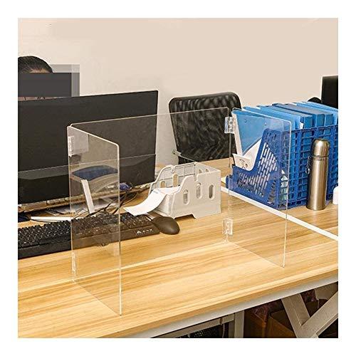 WJC Faltbarer Knieschutz für Tisch, Plexiglas, 50 Packungen, Schreibtisch-Trennwände, Büro-Trennwände, Sichtschutz für Schule, Klassenzimmer, Büros, Bibliotheken, 1 Stück., 18.9*9.4*15.7 inch