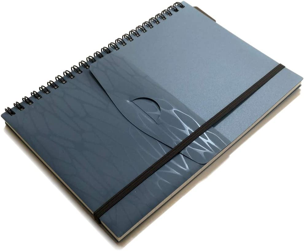 Fort Worth Mall YUREE A5 Spiral Notebook El Paso Mall Lined Wirebound Elastic Journal Cover