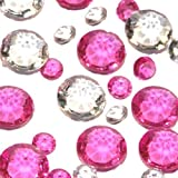 Like a Girl - wir lieben Hochzeiten Lote de 320 cristales para mesa (rosa transparente)